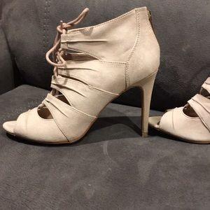 Kelly & Katie Shoes - Kelly & Katie Nude Heels